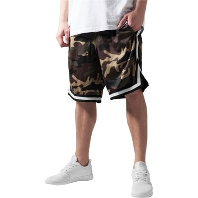 Camo Stripes Mesh Shorts