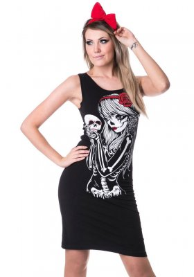 Crow gurl slasher dress