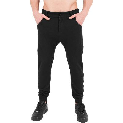 Curved sweatpants svart fram