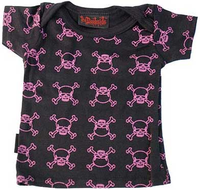 Darkside Pink outline skull barn t-shirt
