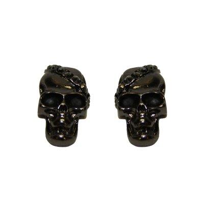 döskalle örhänge mörk silver örhängen accessoarer daa938c6a677e
