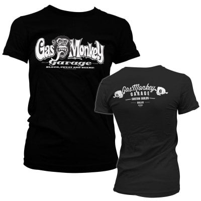 Gas Monkey Garage bar knuckles tjej T-shirt 1