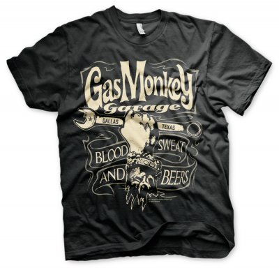 Officially Licensed Gas Monkey Garage GMG Blood Sweat /& Beers Hoodie S-XXL