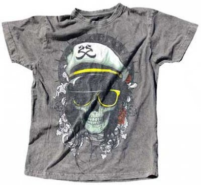 2K2BT Grey, Skull Girl Herr T-shirt