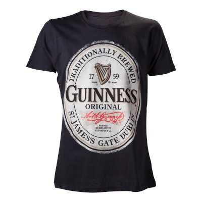 Guinness t-shirt med orginal logga