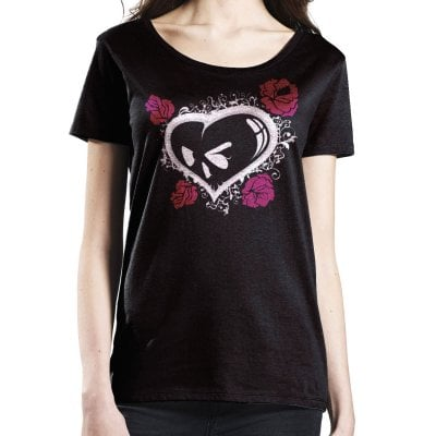 Heart and roses top