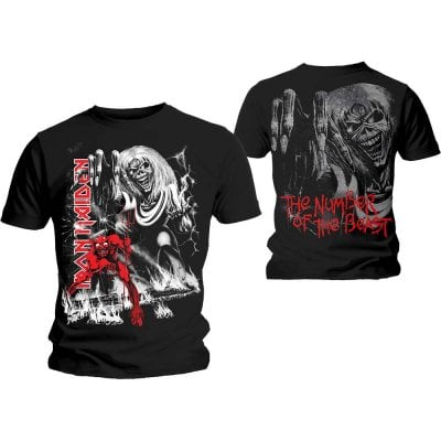 Iron Maiden t-shirt herr: Number Of The Beast Jumbo