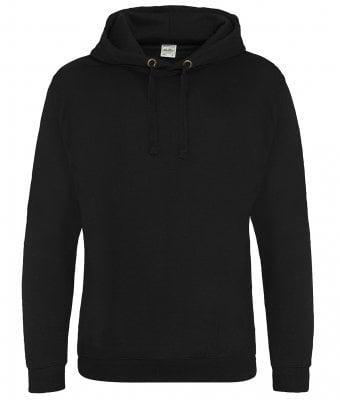 Svart hoodie utan känguruficka
