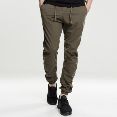 Oliv Joggers med stretch