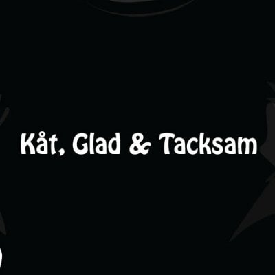 Kåt glad & tacksam t-shirt