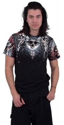 Life and death cross t-shirt herr (XXL)