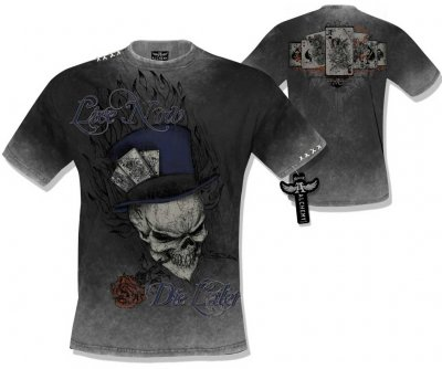 Live now die later Alchemy t-shirt