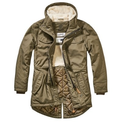 Marsh Lake Teddyparka oliv