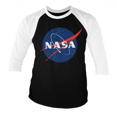 NASA logo 3/4 baseball tee