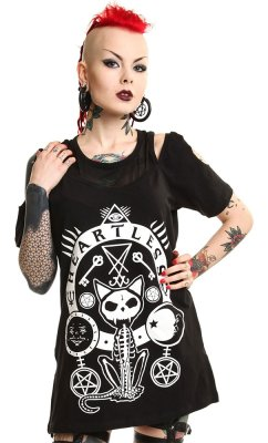 Occult kitty top