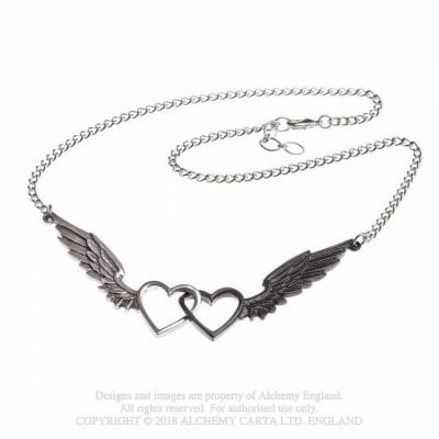 Necklace Wings Of Love svart