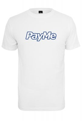 Pay Me Outline T-shirt (L,white)