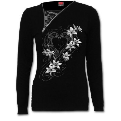 Pure of heart 2in1 zip neck