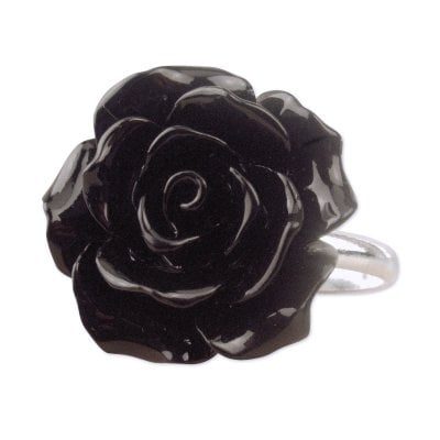 Black Rose silverring