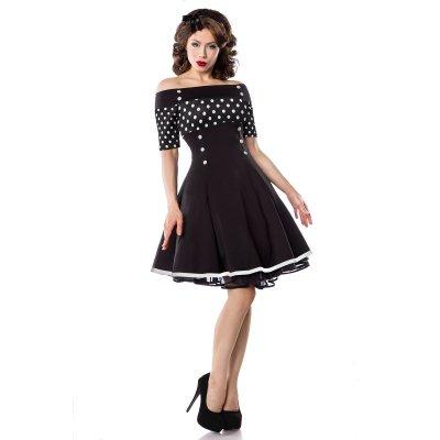 Retro klänning med öppna axlar