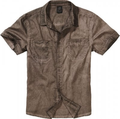 Roadstar heavy washed skjorta (S,brown)