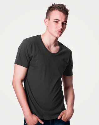 Scooped Neck Tee