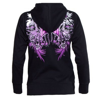 Screamer Tapout svart tjejhoodie med zip