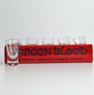 Dragon Blood Shotglasbricka