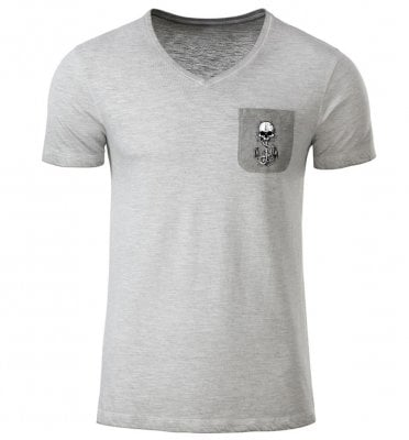 Skull and anchor v-neck t-shirt