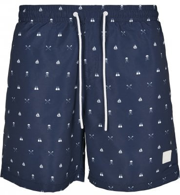 Skull and yacht AOP badshorts 1
