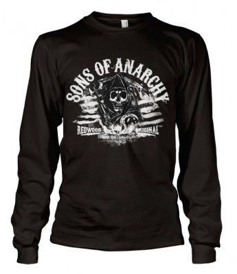 SOA - Distressed Flag longsleeve