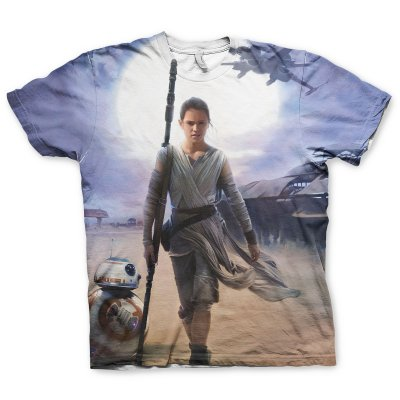 Star Wars Rey Allover Printed T-Shirt