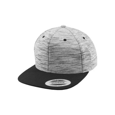Stripes Melange Crown Snapback Keps fram sneddad
