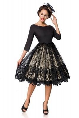 svart klänning spets
