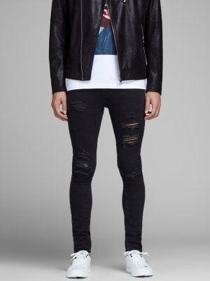 Svarta slitna jeans herr 1