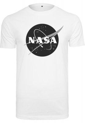T-shirt med NASAtryck i svart och vitt (Vit,XL)
