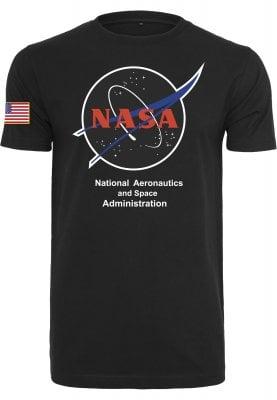 T-shirt med NASAloggan (L,Svart)