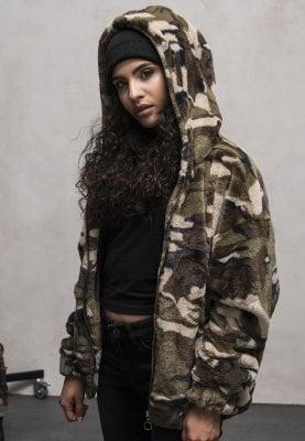 camouflage jacka dam huva