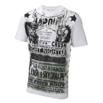 FightNight vit slimfit t-shirt