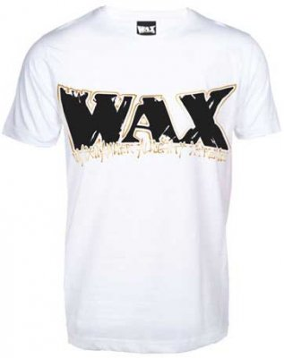 WAX logo vit t-shirt