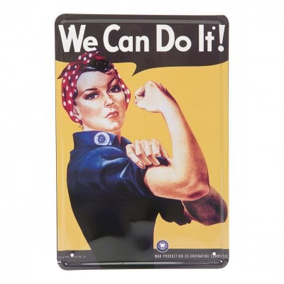 We Can Do It! metallskylt