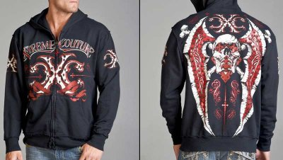 "Xtreme Couture ""TYPHOON"" zip hood"