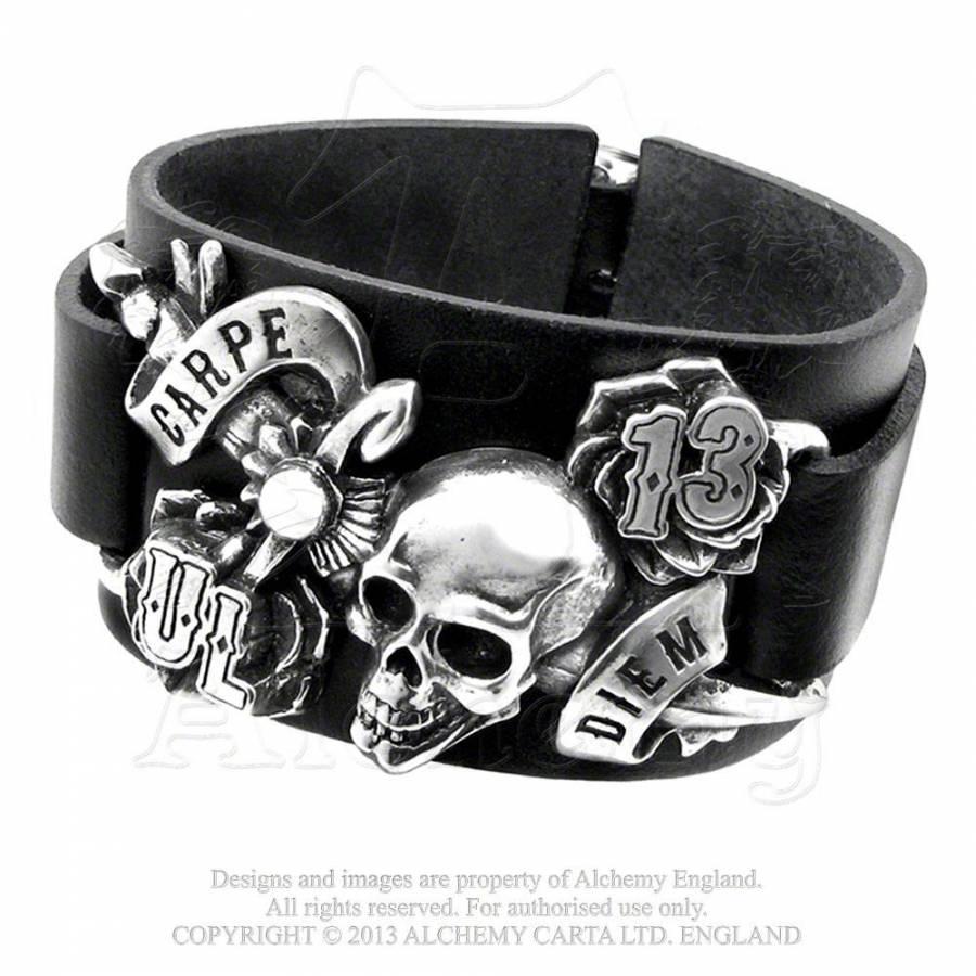 Carpe Diem Läderarmband Armband Accessoarer Dunken se
