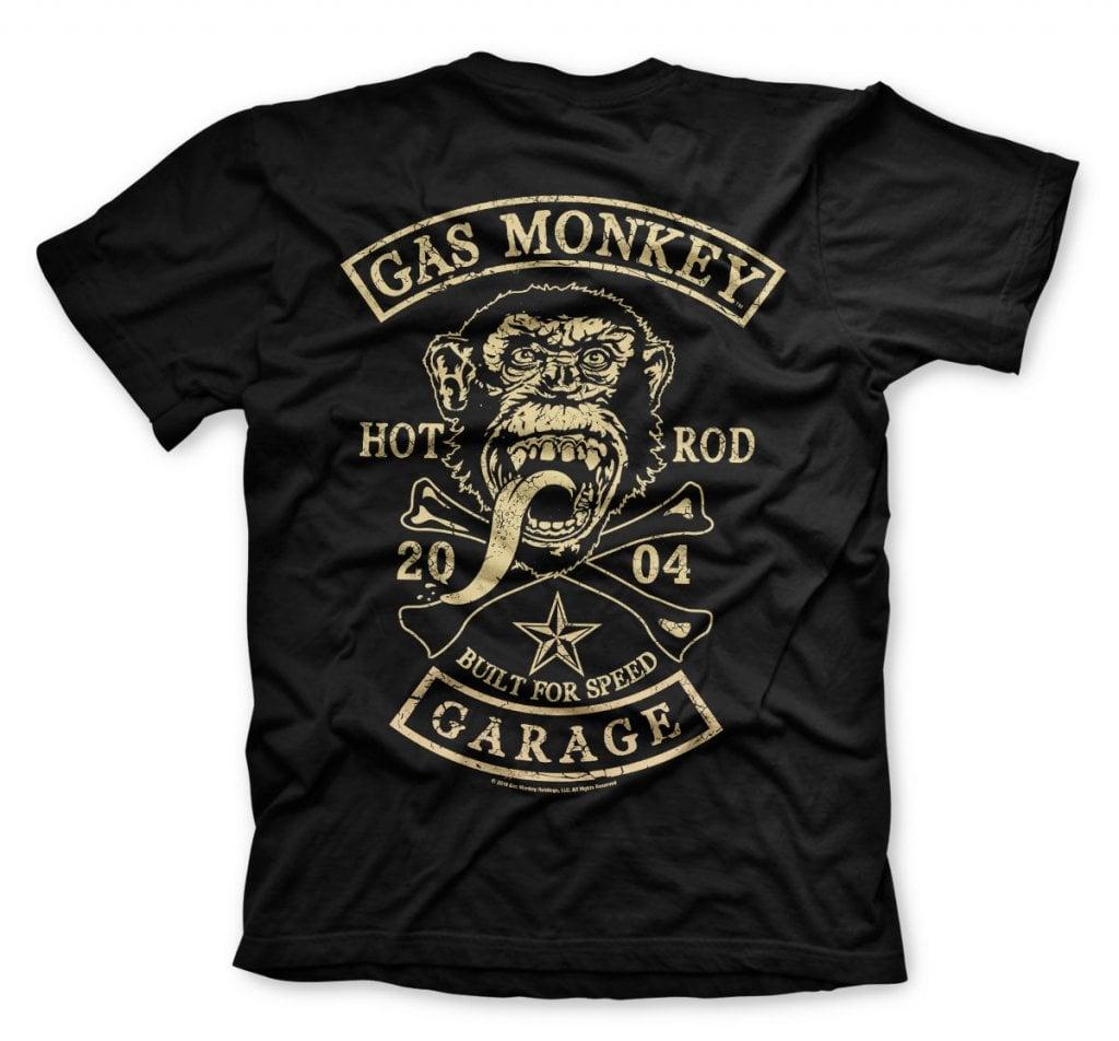 Gas Monkey Garage big patch T Shirt T shirts Herrkläder