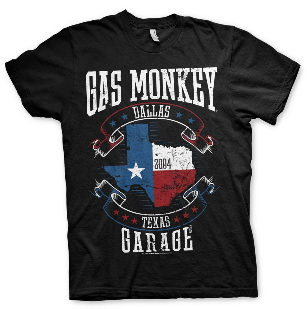 Gas Monkey Garage Texas flag T shirt T shirts
