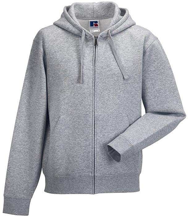 grå hoodie dragkedja
