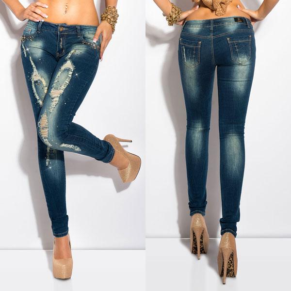 jeans med slitningar dam