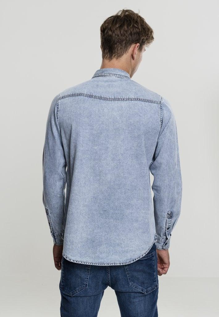 Jeansskjorta med stylad bröstficka - Skjortor - Herrkläder - Dunken.se 7e8cdfe539f7f