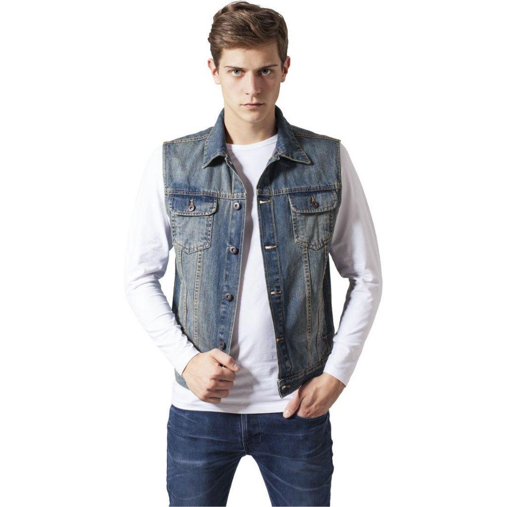 Herr Denim Vest 2018 Nytt märke Jeans Väst Män Slim Fit