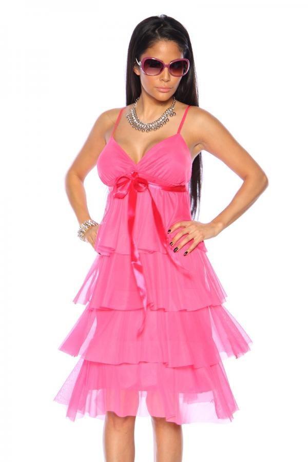 kort fest klänning